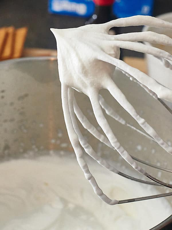 marshmallow fluff on whisk
