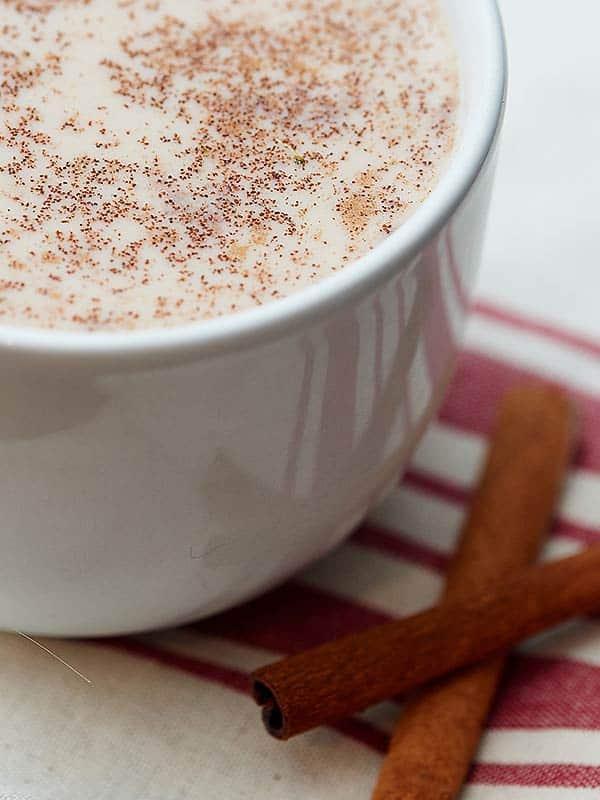 Mug of chai latte