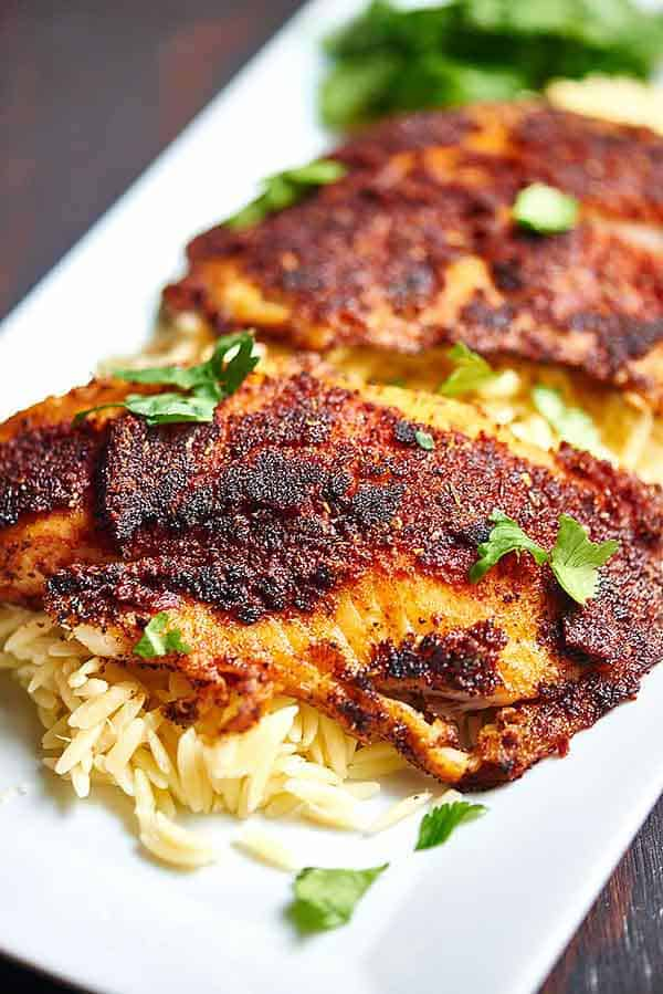 Blackened Tilapia With Homemade Spice Rub Healthy Only