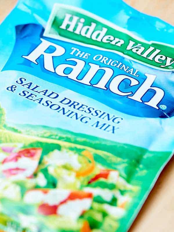Dry ranch seasoning mix packet
