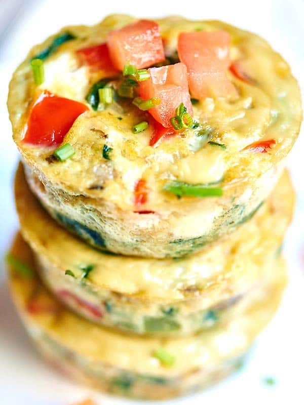Healthy Egg Muffin Cups Only 50 Calories Loaded W