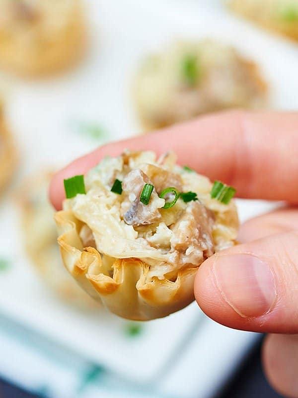 Mushroom And Caramelized Onion Tart Recipe — Dishmaps