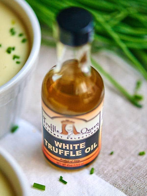 bottle of white truffle oil