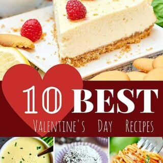 Create a romantic evening for two at home with my best Valentine's Day recipes! showmetheyummy.com #valentinesday #recipes #breakfast #appetizers #dessert #drinks