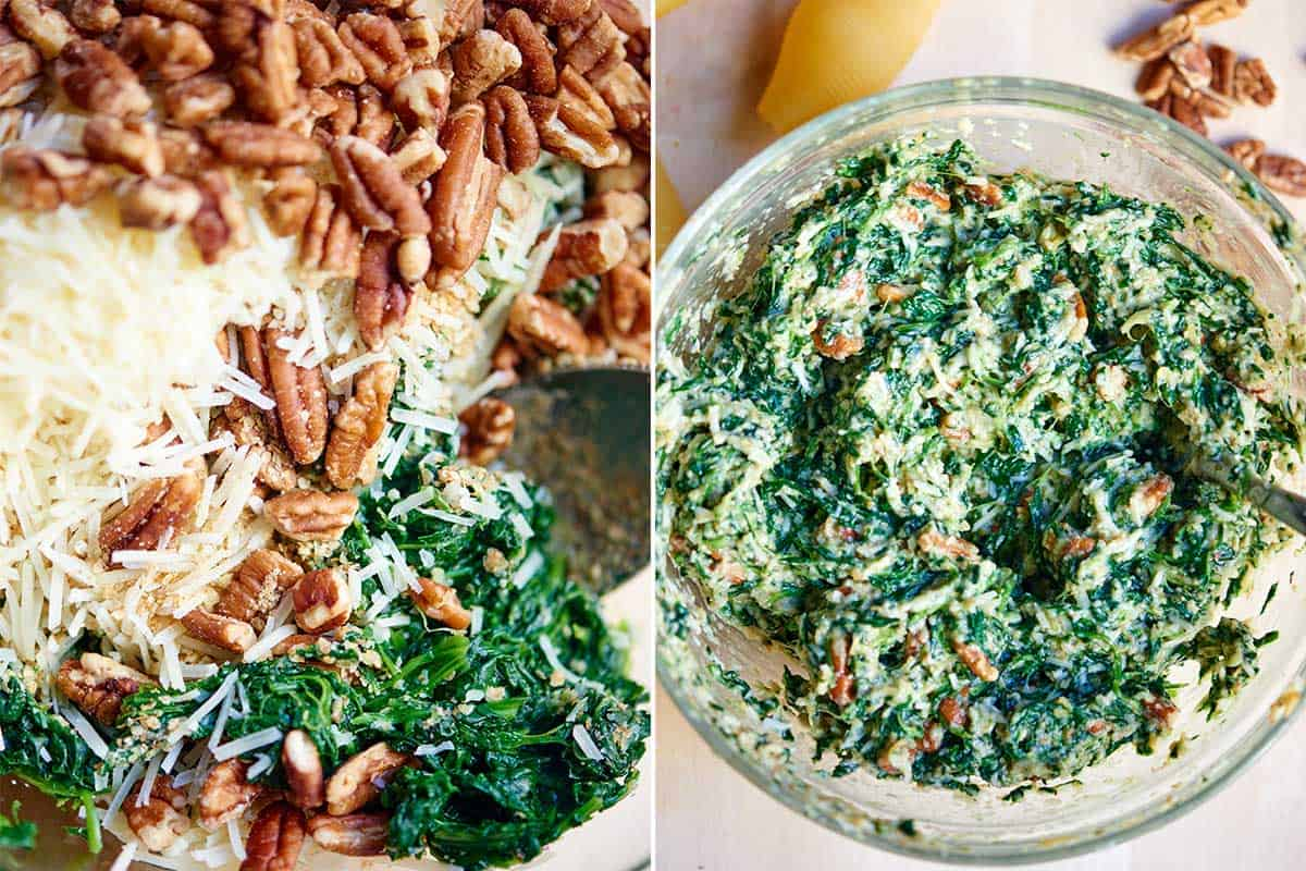 cheese spinach filling