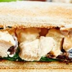 This greek yogurt chicken salad is a lighter version of a truly classic and delicious dish! I love serving this for lunch or dinner on toasted bread with spinach, over a bed of lettuce, or on crackers. If I'm snacking, I love eating this right off the spoon or on granny apple smith slices! showmetheyummy.com #chickensalad #healthy #lightenedup #sandwiches #lunch