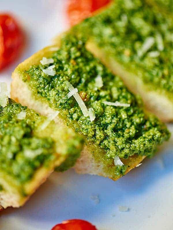 bread with pesto