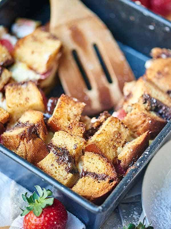 baking dish of french toast casserole
