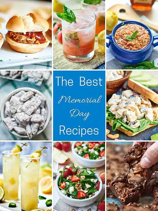 Memorial Day is upon us, so I've gathered up The Best Memorial Day Recipes! showmetheyummy.com #memorialday #drinks #dessert #crockpot #recipes #summer #grilling