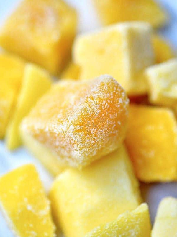 Frozen mango chunks