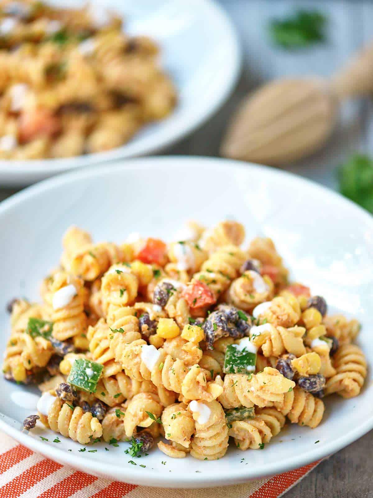 Pasta salad black beans recipe