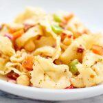 This Greek Tortellini Pasta Salad is vegetarian, easy, and so tasty! Sun dried tomatoes. Salty feta. Chickpeas. Fresh vegetables. Cheese Pasta. Yes please! showmetheyummy.com #pasta #vegetarian