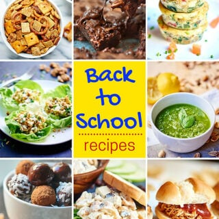 The best back to school recipes! We've got you covered with everything from breakfasts on-the-go, easy lunches, after school snacks, and quick dinners! showmetheyummy.com #backtoschool #easyrecipe