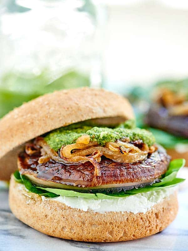 This Portobello Mushroom Burger is vegetarian, healthy, can be gluten ...