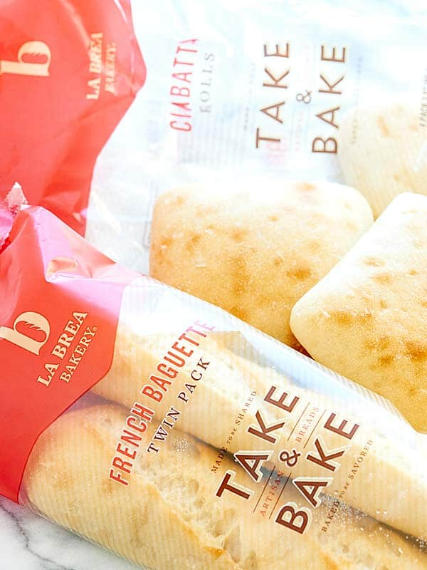 French baguette and ciabatta roll packages