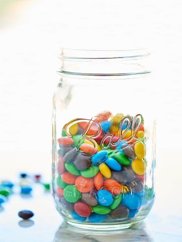 jar of M&Ms