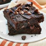 These Black Bean Brownies are so moist & fudge-y! I