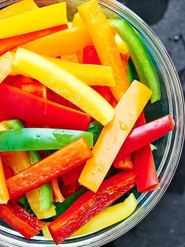 Jar of sliced peppers
