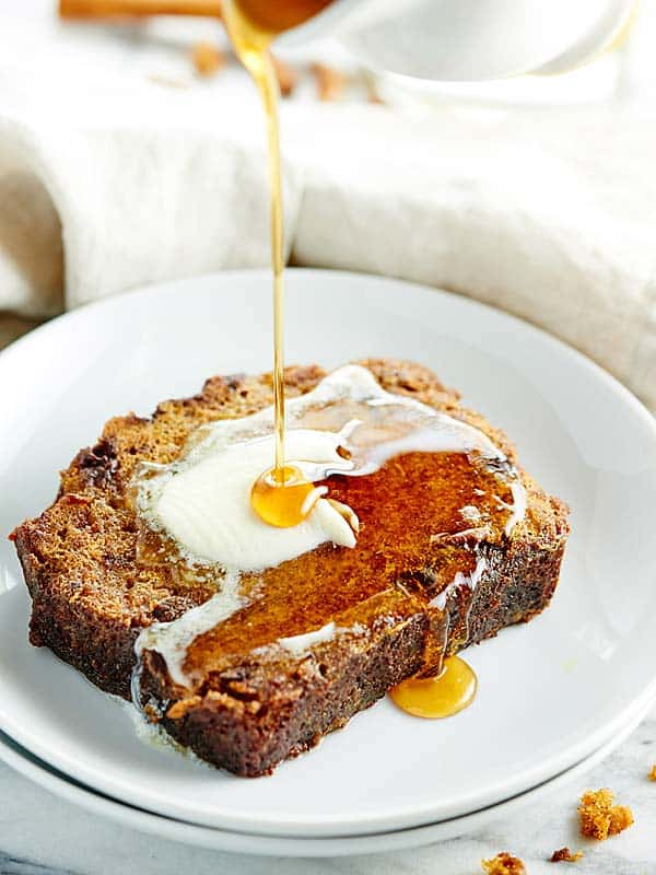This Pumpkin French Toast Recipe is made w/ pumpkin bread that's ...