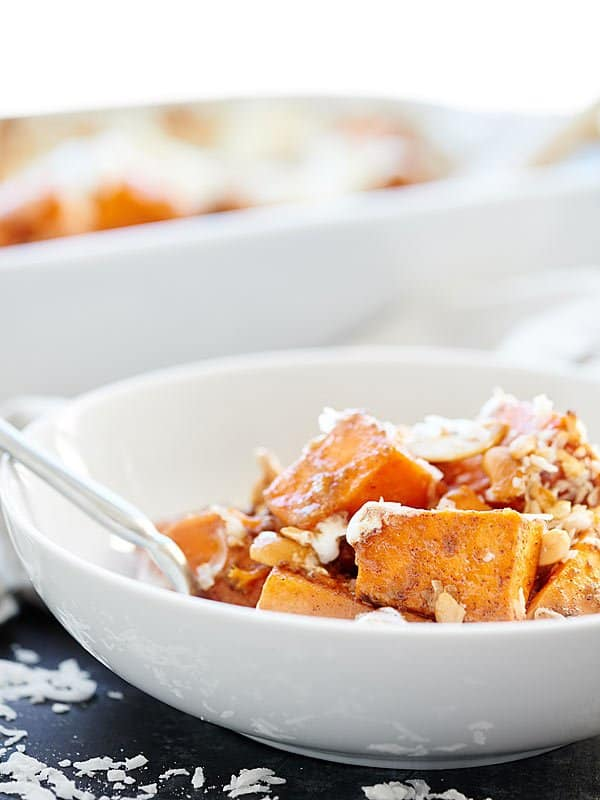 sweet potato casserole in bowl