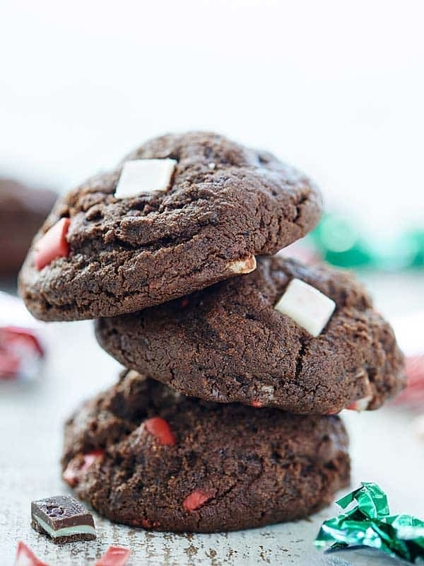 Mint Chocolate Cookies - Andes Mints & Peppermint Crunch