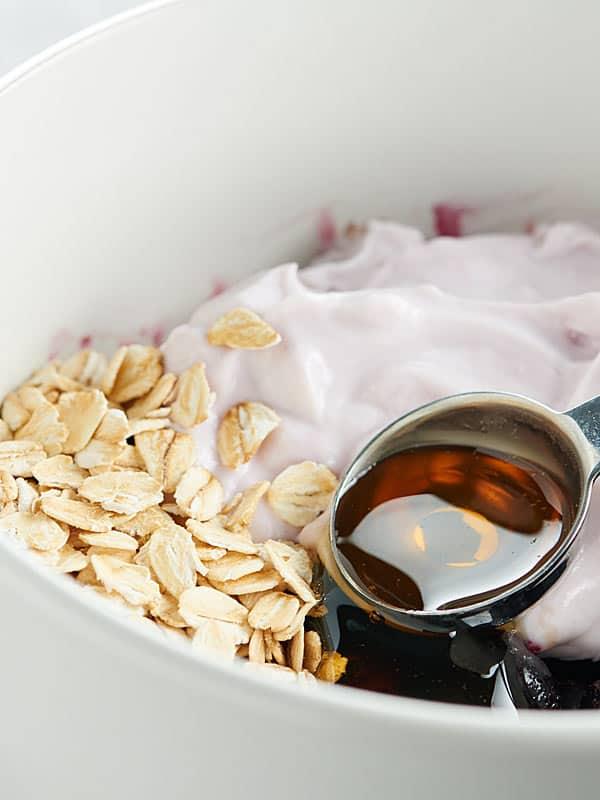 smoothie ingredients in bowl