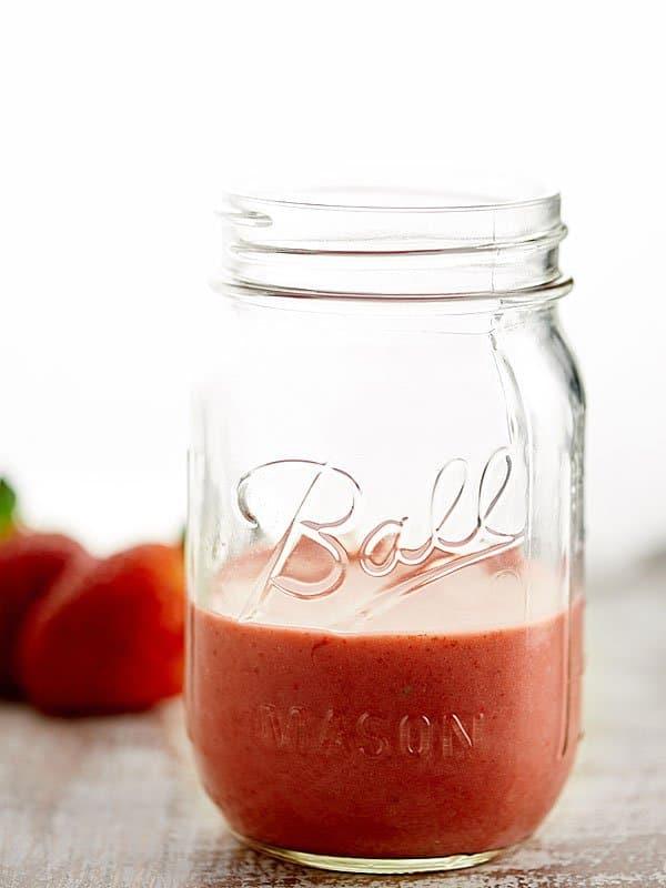 jar of strawberry puree