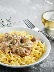 "Love beef stroganoff? You'll love my Slow Cooker Beef Stroganoff! It's made in the crockpot, has no ""cream of x"" soup, & uses my blend of spices! showmetheyummy.com #slowcooker #beefstroganoff"