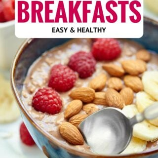 A round up of my favorite Easy Healthy Make Ahead Breakfast Recipes. Mornings are busy enough without having to worry about making a nutritious meal for your family! showmetheyummy.com #healthy #breakfast