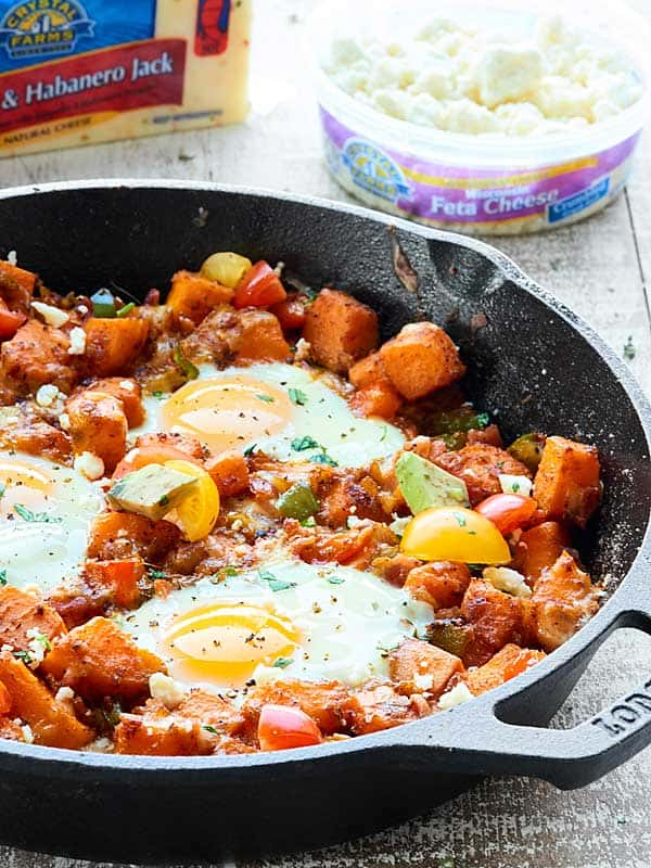 This Sweet Potato Hash is full of tender veggies, chewy/crispy bacon ...