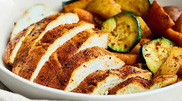 Chicken And Vegetable Foil Packets W Bbq Spice Rub