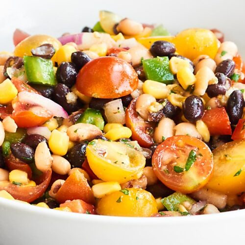 Texas Caviar Recipe With Red Wine Vinegar Lime Dressing