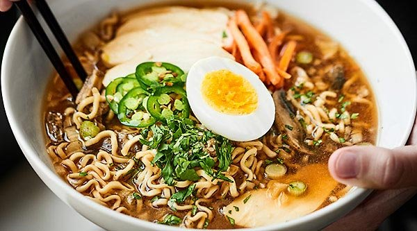 Chicken Ramen Noodles made easier in the crockpot! These Slow Cooker Ramen Noodles may be simple in preparation, but they're completely packed with flavor! showmetheyummy.com #ramennoodles #slowcooker