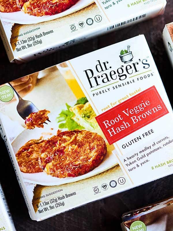 box of dr. Praiger's root veggie has browns