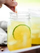 A classic, Easy Margarita Recipe. 5 ingredients: tequila, simple syrup (or agave), lime, lemon, and orange juice! A simply perfect and refreshing cocktail! showmetheyummy.com #margarita #easymargarita