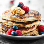 You guys are gonna FLIP for these classic Buttermilk Pancakes. Only 8 ingredients for ultra fluffy, perfectly sweet, incredibly easy pancakes! showmetheyummy.com Recipe adapted from Fast & Easy Five Ingredient Recipes: A Cookbook For Busy People #pancakes #sweetphicookbook