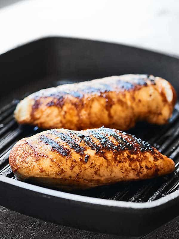 chicken breasts in grill pan