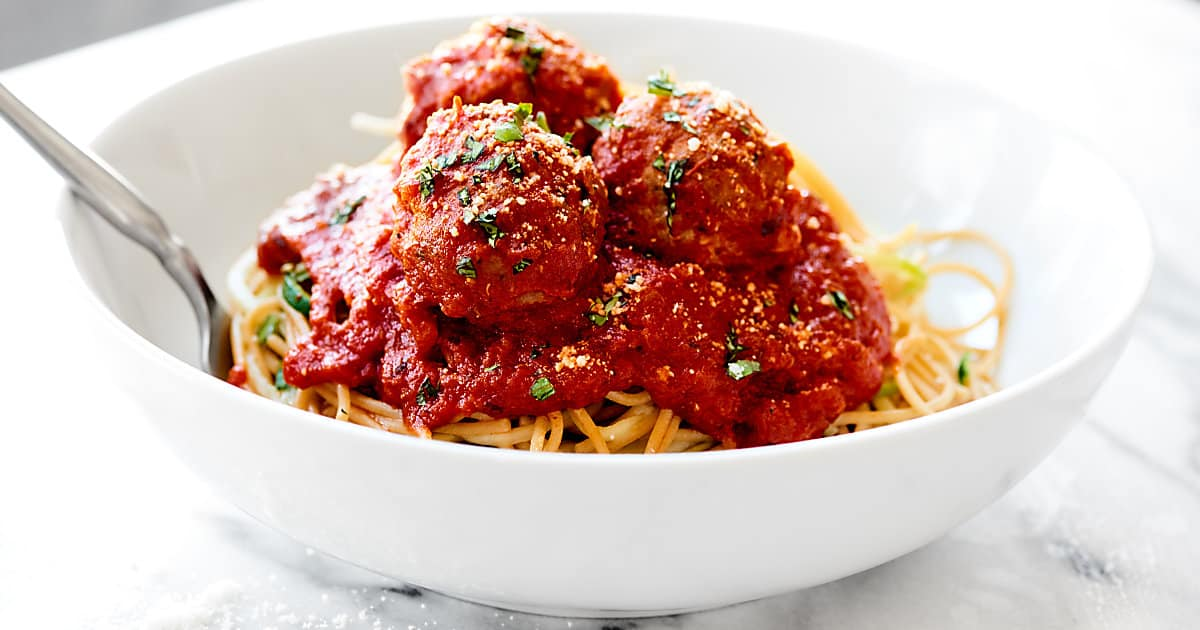 Turkey Meatballs Recipe Healthy W Zoodles Amp Wheat Pasta