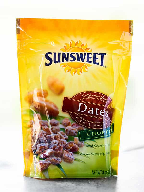 bag of chopped dates