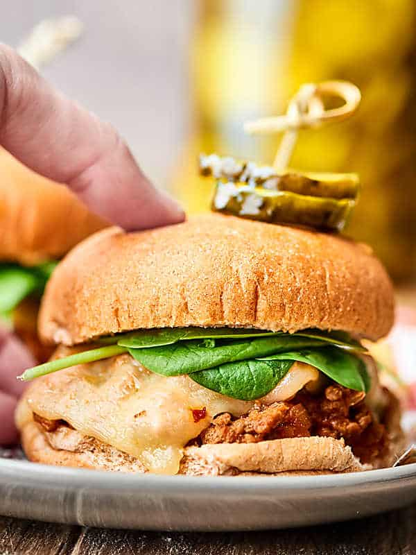 #ad These Turkey Sloppy Joes are ready in just about 20 minutes! Full of lean turkey, tons of veggies, and a super easy homemade sloppy joe sauce. Easy. Healthy. Delicious! showmetheyummy.com Recipe made in partnership w/ @SargentoCheese #RealCheesePeople #turkeysloppyjoes