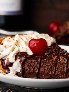 Red Wine Chocolate Pudding Pie Recipe