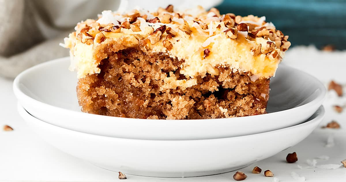 Caramel Carrot Poke Cake Recipe