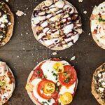 #ad Homemade Individual Pizzas 4 Ways: Margherita, Chicken Bacon Ranch, Mushroom Pesto, and Dessert Pizza (S'Mores Galore!). showmetheyummy.com Made in partnership w/ @OzeryBakery #Ozery #OzeryBakery #OBCreation #FuelYourBody