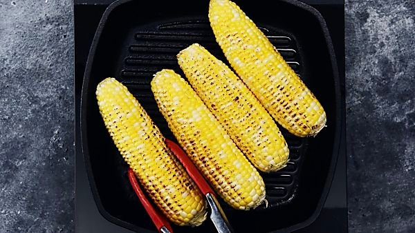 corn being grilled