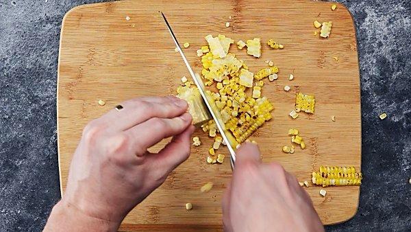 corn being cut