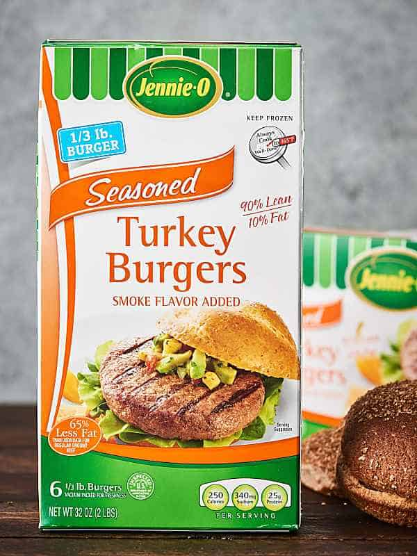 turkey burgers box