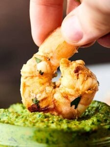 Grilled Shrimp Skewers. Easy, healthy, delicious summer food at it's finest! Only seven ingredients necessary! showmetheyummy.com