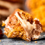 This Easy Pumpkin Coffee Cake is perfect for your fall breakfasts and brunches! Spice cake mix + pumpkin puree, cinnamon, pecans, and a maple icing! showmetheyummy.com