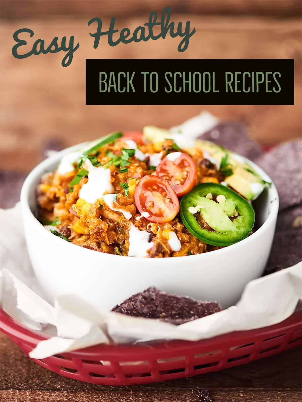 Easy Healthy Back to School Recipes. Because the school year is crazy enough without worrying about meals to feed your families! Breakfasts. Lunches. Snacks. Dinners! showmetheyummy.com
