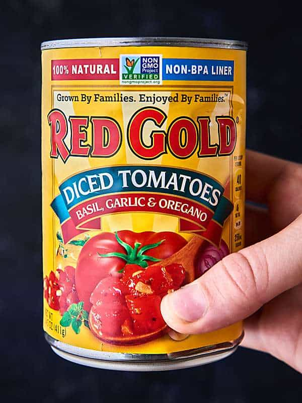 can of diced tomatoes held